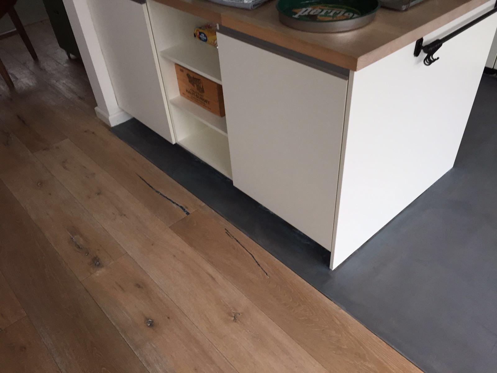 Leef beton keukenvloer u waterdichte betonlook vloer voor in de keuken