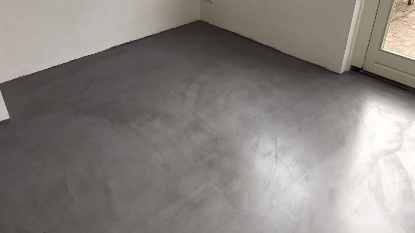 Vloeren Op Beton : Leef beton keukenvloer u2013 waterdichte betonlook vloer voor in de keuken