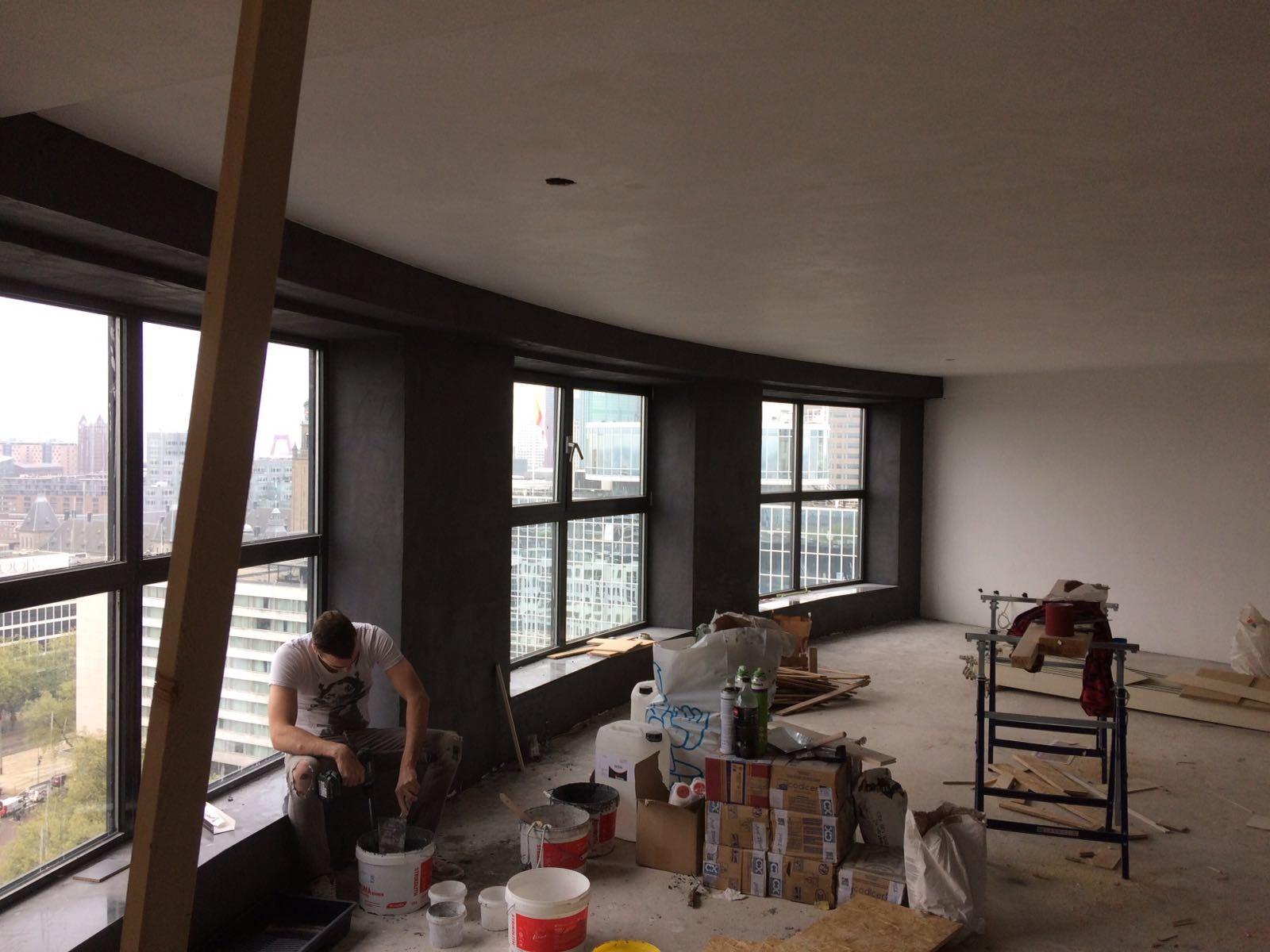Vloeren Winkel Rotterdam : Leef beton rotterdam betonlook wanden en vloer in penthouse